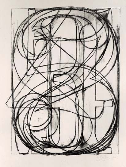 """0 through 9"" Lithograph by Jasper Johns, 1960."