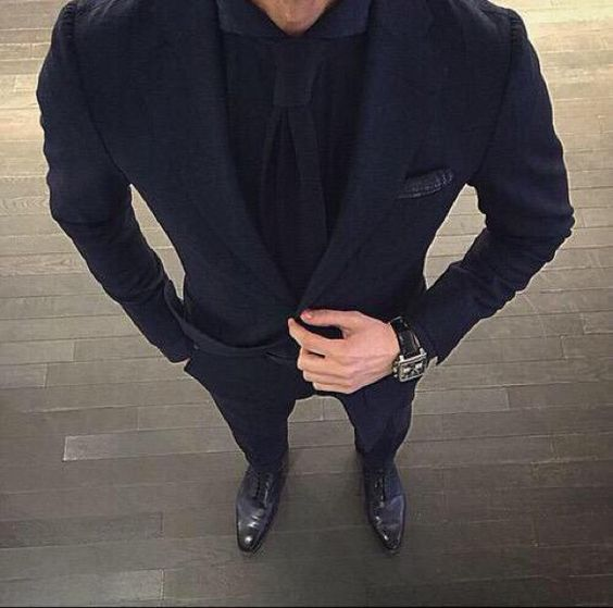 Triple-black suits   For Him   Pinterest   Beauty, Suits and Love