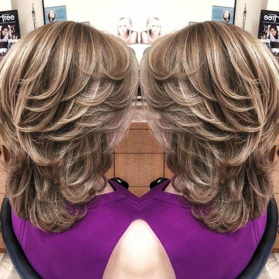 medium layered haircuts 2021