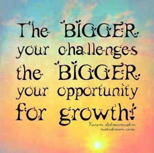 Challenges make you Grow