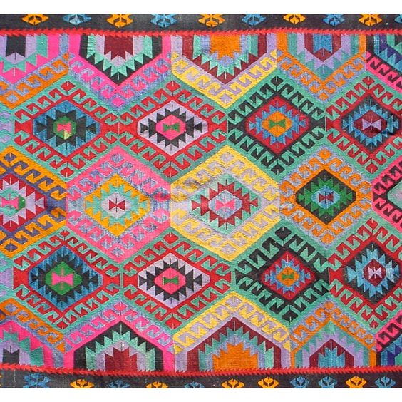 Vintage Kilim Rug . Pattern Is Of Bulgarian Origin