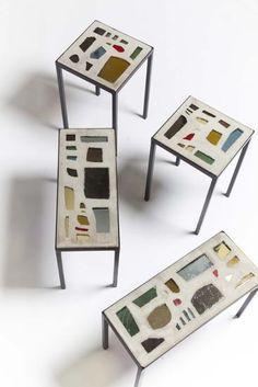 // Jacques Avoinet, 1960 // Terrazzo, interior, mid-century, decor, italian, european furniture