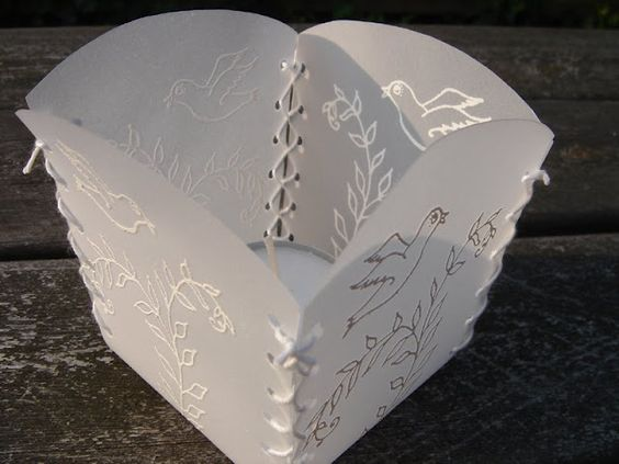 Love this vellum embossed tealight (use fake only!!!) holder by - fake document templates
