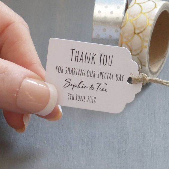 Are you interested in our wedding favour tags? With our personalised tags for wedding favours you need look no further.