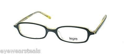 NEW AUTHENTIC LEGRE LE015 COL 317 BLACK PLASTIC EYEGLASSES FRAME JAPAN MADE
