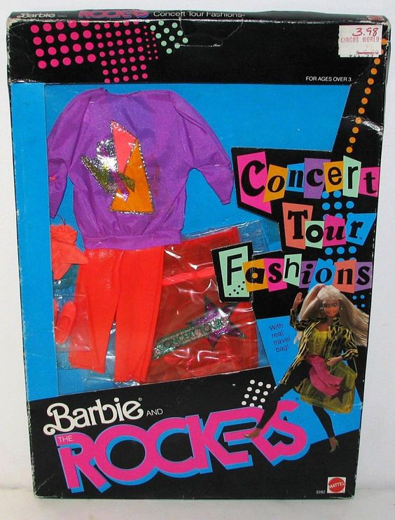 Vintage Barbie and The Rockers Concert Tour Fashions 3392 Mattel 1986 | eBay