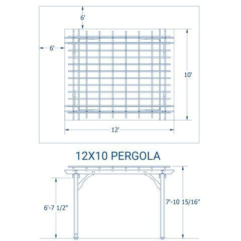 Patio Products 10 X 12 Pergola Details Pergola Wooden Pergola Pergola Designs Pergola Kits