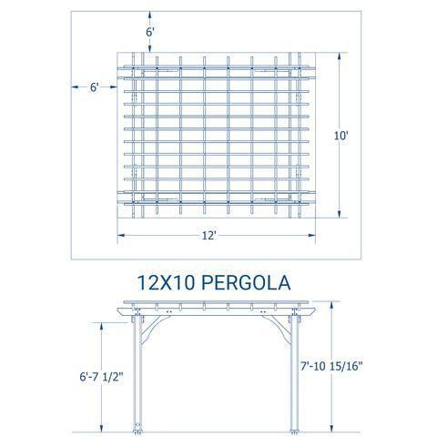 Patio Products 10 X 12 Pergola Details Pergola Wooden Pergola Pergola Designs Pergola Kits