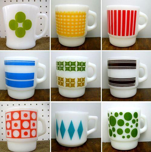 pyrex mugs.