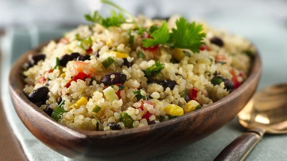 Quinoa and beans come together in this quick and easy side dish that's ready in 30 minutes.
