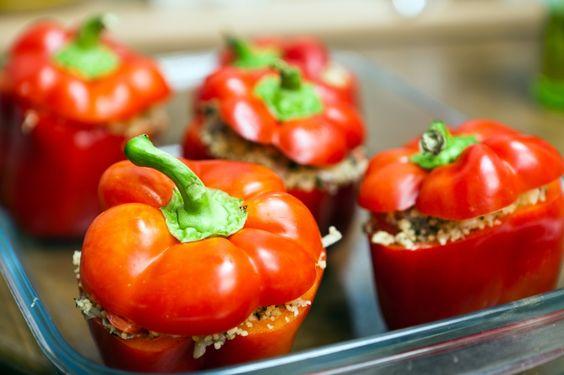 Gefüllte Paprika - veganlifestyle