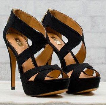 Shoes Stradivarius blacks with high heel sandals 2012