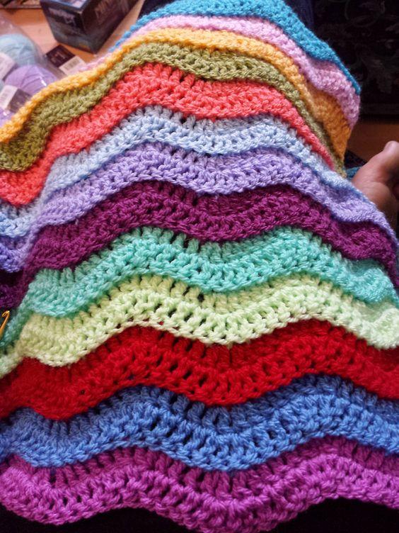 Rugged Ripples Blanket By Stephanie Gage Free Crochet