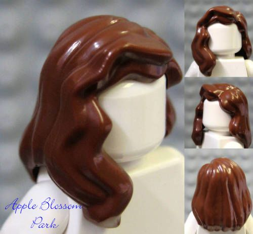 NEW Lego Storm Minifig Long WHITE HAIR Girl//Female Wavy Over Shoulder Head Gear