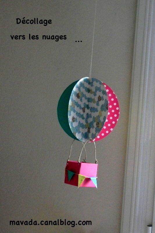 un petit mobile montgolfi re bricolage pinterest mobiles. Black Bedroom Furniture Sets. Home Design Ideas