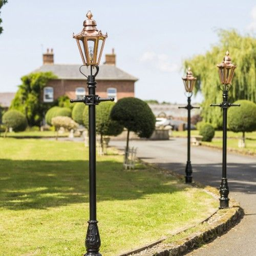 Copper Concordia Lamp Post Hexagonal Lantern 2 3m Lamp Post Lantern Set Garden Lamp Post