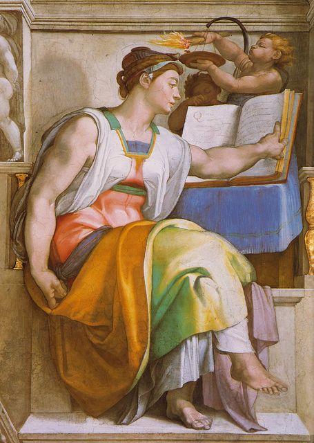 Sixtinische Kapelle, Michelangelo, Erithreische Sibylle (Erythrean Sibyl) by HEN-Magonza, via Flickr