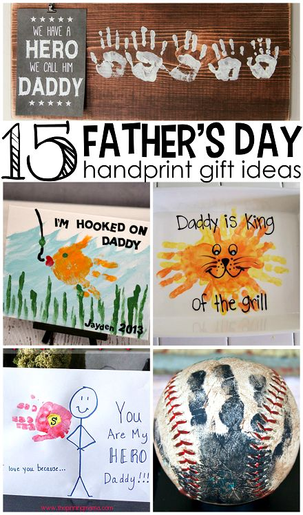 Father 39 s day handprint gift ideas from kids creative for Creative gifts for dad from daughter
