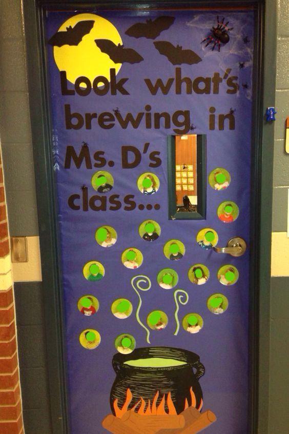 Halloween Door Decoration Ideas For Your Classroom Or Dorm Halloween Classroom Door Decor Halloween Door Decorations Classroom Halloween Classroom Decorations
