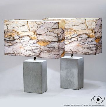 CONCRETE BLOCK TABLE LAMP - Eclectic - Table Lamps - Other Metro - Chromatica Group, Inc.