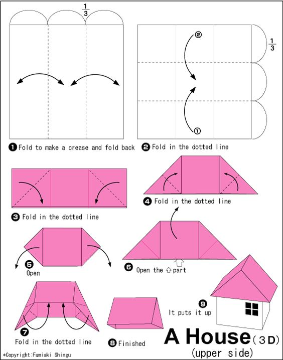 house and origami on pinterest