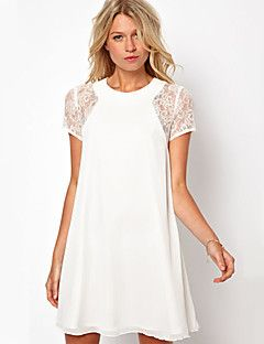 soild causual couleur de la robe en dentelle de mode de changement de fenci femmes