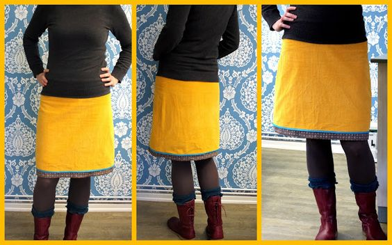skirt with jersey waistband