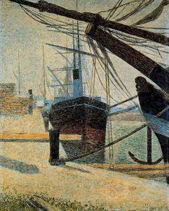 Un coin de l Khabor de Honfleur - (Georges Pierre Seurat)