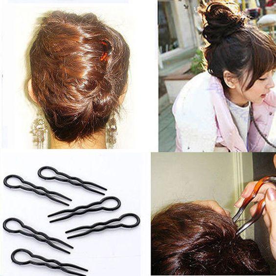 Hot 3 Sztuk Zestaw 2017 Kobiety Panie Okragly Nosek W Ksztalcie Litery U Wlosy Szpilki I Klipy Bobby Pin Barrette U Shaped Hair Hair Pins Women Fashion Makeup
