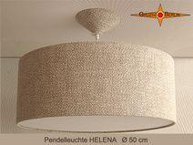 Pendelleuchte Leinen HELENA Ø50cm Landhausstillamp