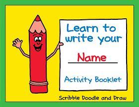 Scribble Doodle and Draw: Fun name activities for preschool and kindergarten
