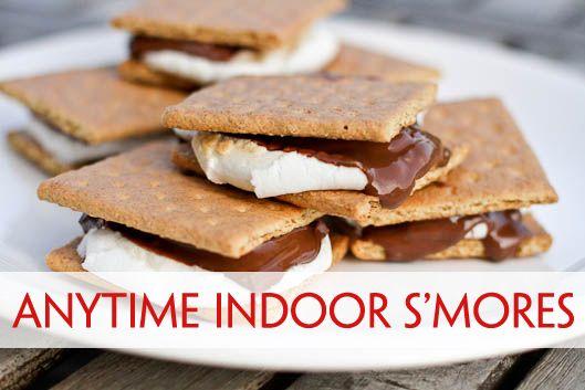 Anytime Indoor S'mores | Recipe | Indoor