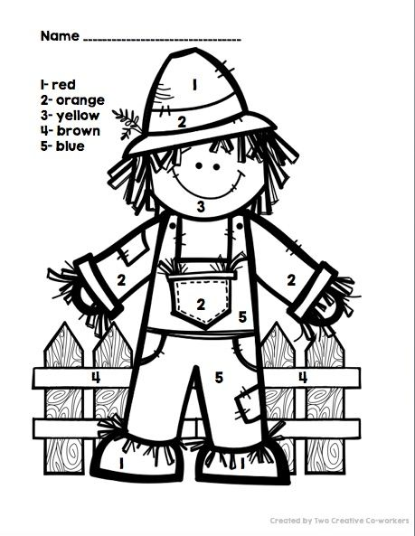 scarecrow coloring pages kindergarten letters - photo#18