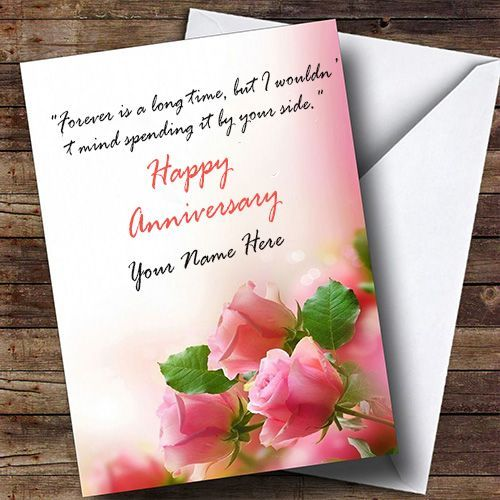 Create A Beautiful Anniversary Card Images With Name Edit Online You Can Creat Marriage Anniversary Cards Anniversary Greeting Cards Wedding Anniversary Cards
