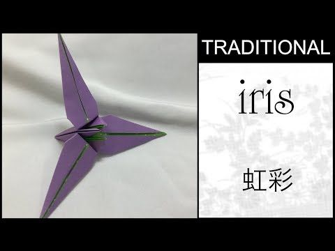 Traditional Origami Three Petal Iris Flower Tutorial Youtube In 2020 Iris Flowers Flower Tutorial Iris