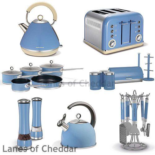 Morphy Richards Cornflower Blue Kitchen Set Accents Range Inc Kettle & Toaster #home #kitchen