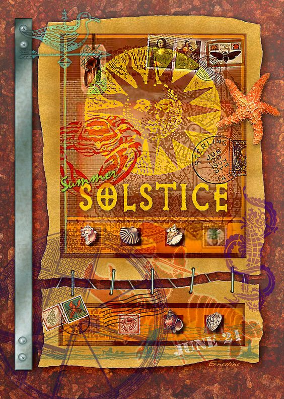 June 21~Summer Solstice Digital Art by Ernestine Grindal