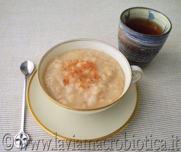 crema di cereali mele e cannella colazione macrobiotica