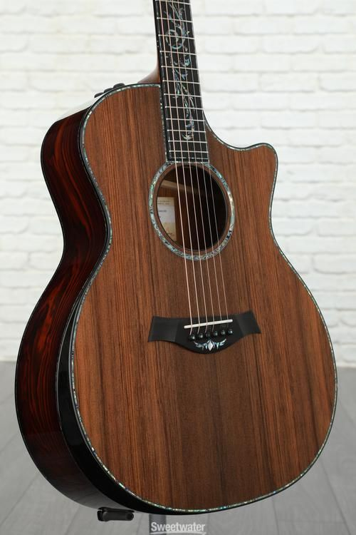 Taylor 714ce V Class Natural Lutz Spruce Top Acoustic Electric Guitar Acoustic Guitar Photography Guitar
