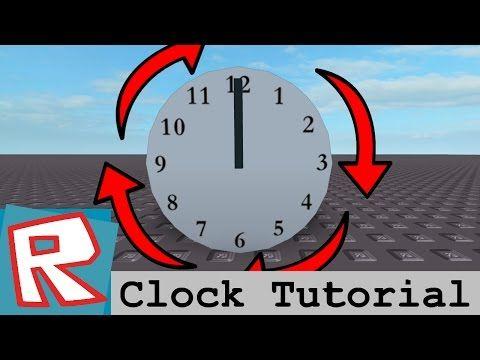 Roblox Tutorial Clock Youtube Roblox Tutorial Clock