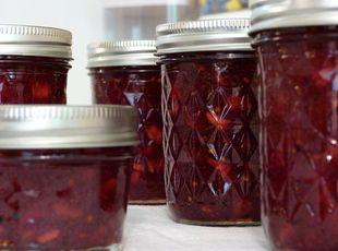 Raspberry Peach Jalapeno Jam.