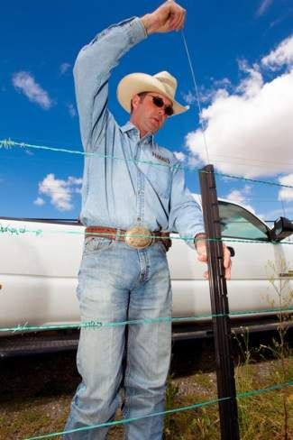 Excellent article about: Courtesy photoChris Hanneken demonstrates how to insert a lock rod into a SuperStay for a suspension fence.