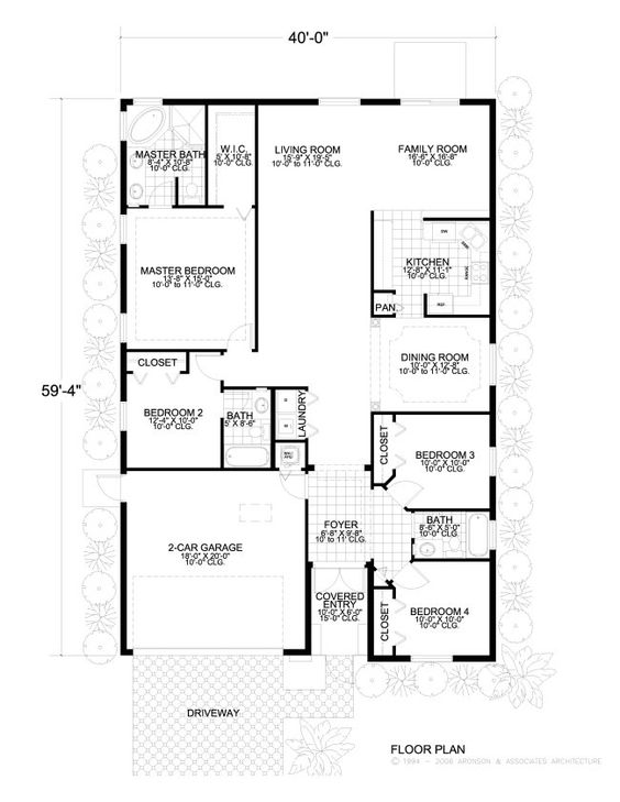 1400 Sq Ft House Plan 14 001 310 from Planhouse Home Plans