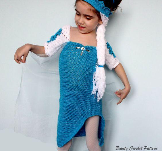 Crochet Dress Pattern Ice Queen Frozen by BeautyCrochetPattern $6.99