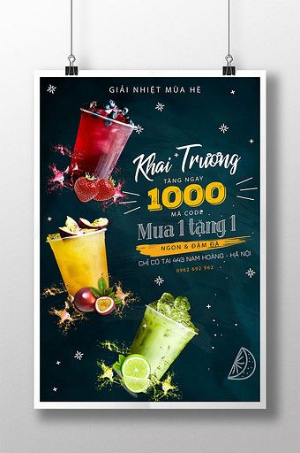 Posters Of All Kinds Of Summer Cooling Milk Tea Drinks Opening Shock Promotion Pikbest Templates đồ Uống Tra Sữa Posters