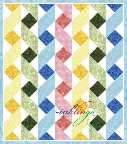 Twisting Ribbons Inklingo Ribbon Baby Quilt | Quilt Blocks and ... : easy block quilt patterns free - Adamdwight.com