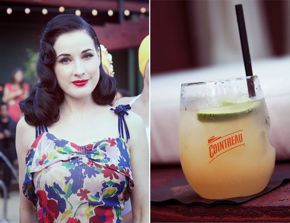 Dita Von Teese and her fabulous hair at the Cointreau pool party