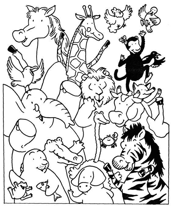 Coloriage les animaux du zoo et dessin colorier les - Animaux a colorier ...