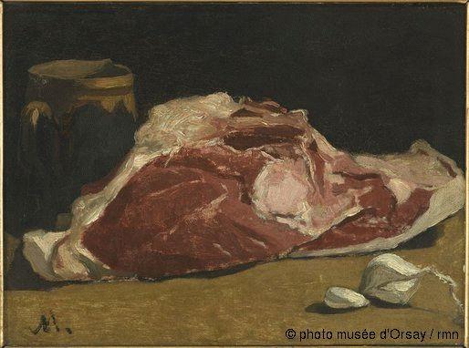 Claude Monet Nature morte : le quartier de viande vers 1864