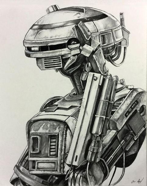 Pencil Drawing Of The New Droid L3 37 From Solo A Star Wars Story